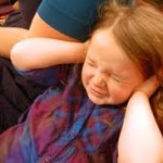 terrified child, scared little girl at revival meeting