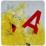 Big Bird, political, letter A, Jane Goodwin