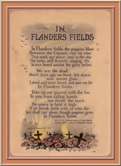 Flanders Fields, Veterans Day, Scheiss Weekly