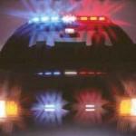 flickering police car lights