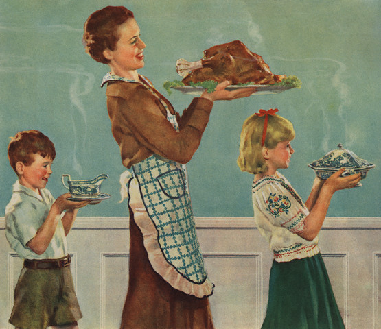 Thanksgiving, Crockwell, Mamacita