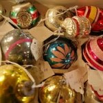 Christmas ornaments, box of ornaments