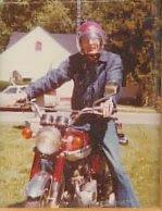 Dad on Steve's motorcycle
