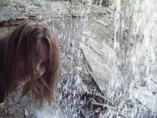 Sara in the waterfall