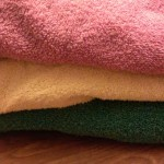 folded towels, kids' laundry