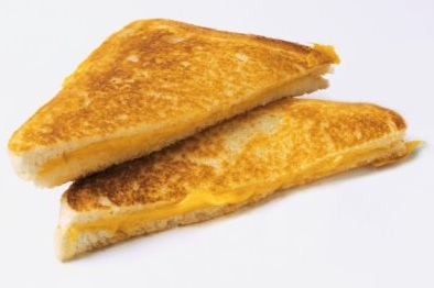grilled cheese, mashed grilled cheese