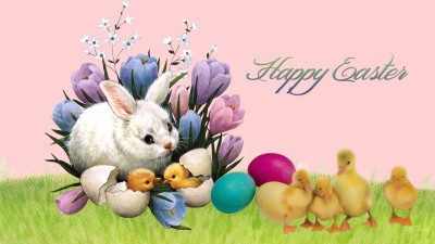 Happy Easter, bunnies, chicks, eggs, Scheiss Weekly