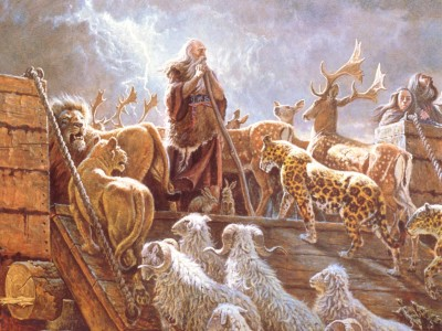 Noah, ark, animals, Scheiss Weekly
