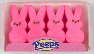 Peeps, pink, Easter, Scheiss Weekly