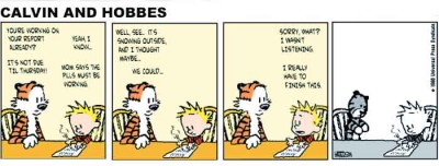 Calvin & Hobbes, ritalin, imagination