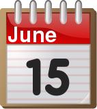 June 15, calendar