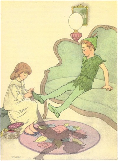 Peter Pan, Wendy, and the shadow