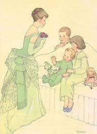 Mrs. Darling, Wendy, Michael, John