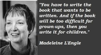 Children's, YA literature, Madeleine L'Engle