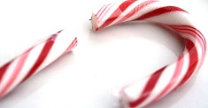 broken candy cane, Christmas is over