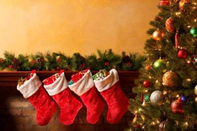 Christmas stockings, home