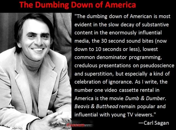 Carl Sagan on dumbing down