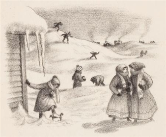 breaking a path to school, The Long Winter