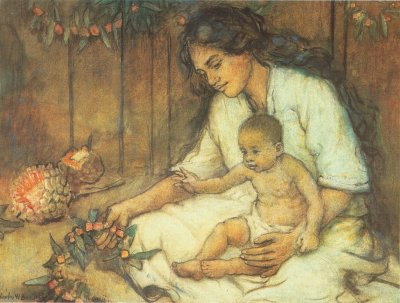 Charles W. Bartlett, Hawaiian Mother and Child
