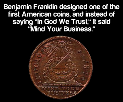 Benjamin Franklin's coin,the Continental Currency Dollar