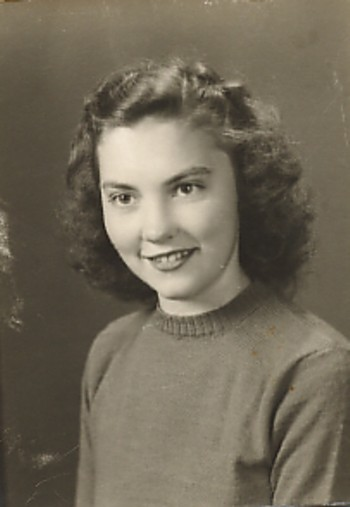My beautiful mom.  Senior year.  She wasn't my mom yet.
