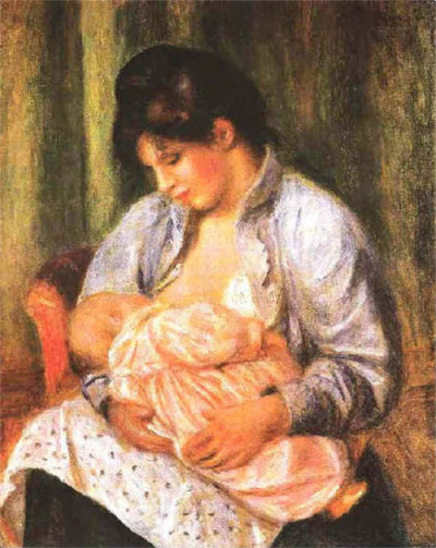 Renoir, Mother and Child