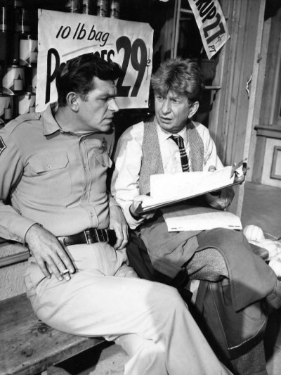 Andy Griffith and Sterling Holloway, 1962