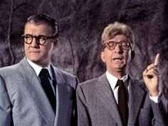 George Reeves as Clark Kent, with Sterling Holloway