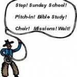 pitch-in, bible study, choir, missions