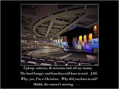 Big impersonal church